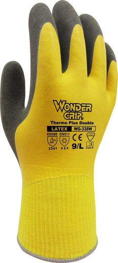 Wonder Grip Thermo Plus Double WG-338W keltainen työkäsine (12 paria/nippu)